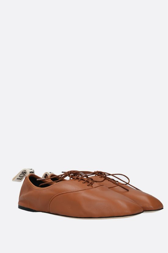 LOEWE: scarpa derby in morbida nappa Colore Marrone_2