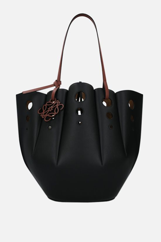 LOEWE: tote Shell in pelle Classic Colore Black_1