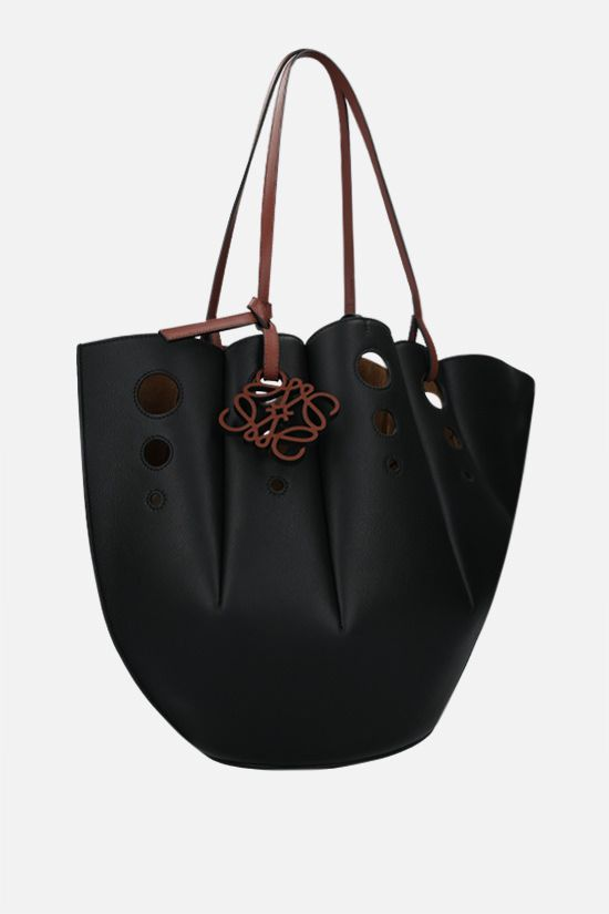 LOEWE: tote Shell in pelle Classic Colore Black_2