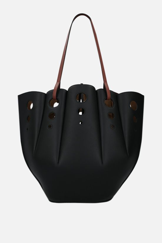 LOEWE: tote Shell in pelle Classic Colore Black_3
