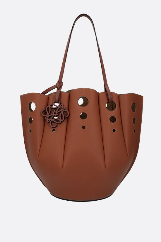 LOEWE: Shell tote bag in Classic leather Color Brown_1