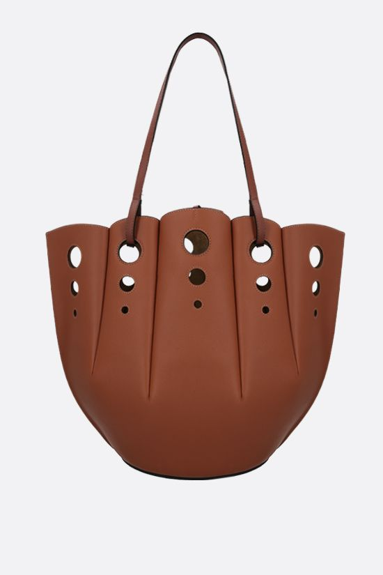 LOEWE: tote Shell in pelle Classic Colore Brown_3