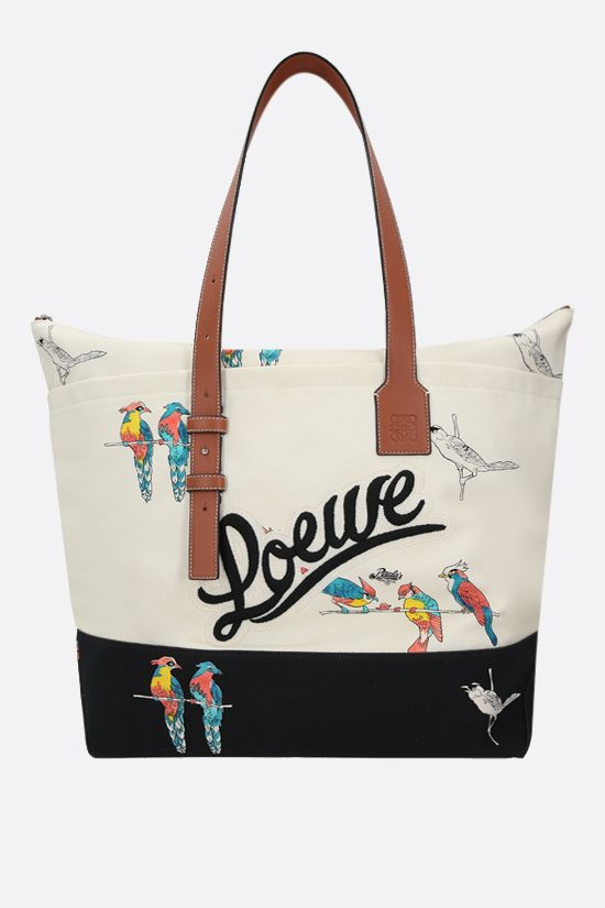 LOEWE: Paula's Ibiza canvas tote bag Color Neutral_1