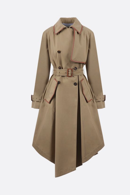 LOEWE: asymmetric cotton trench Color Neutral_1