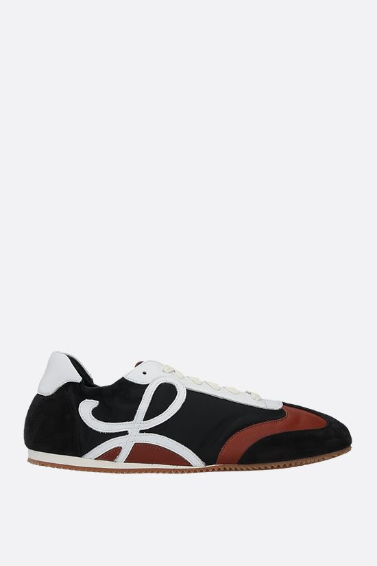 LOEWE: Ballet suede and nylon sneakers Color Multicolor_1