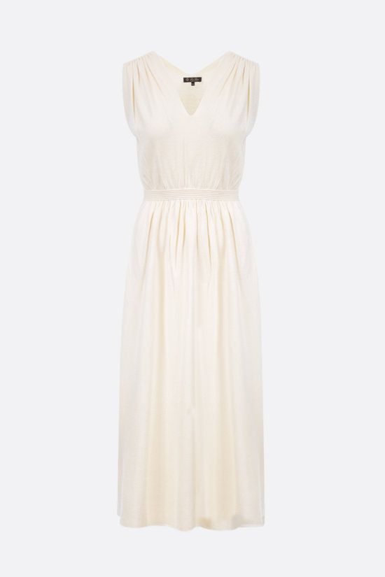 LORO PIANA: Mayan silk sleeveless dress Color White_1