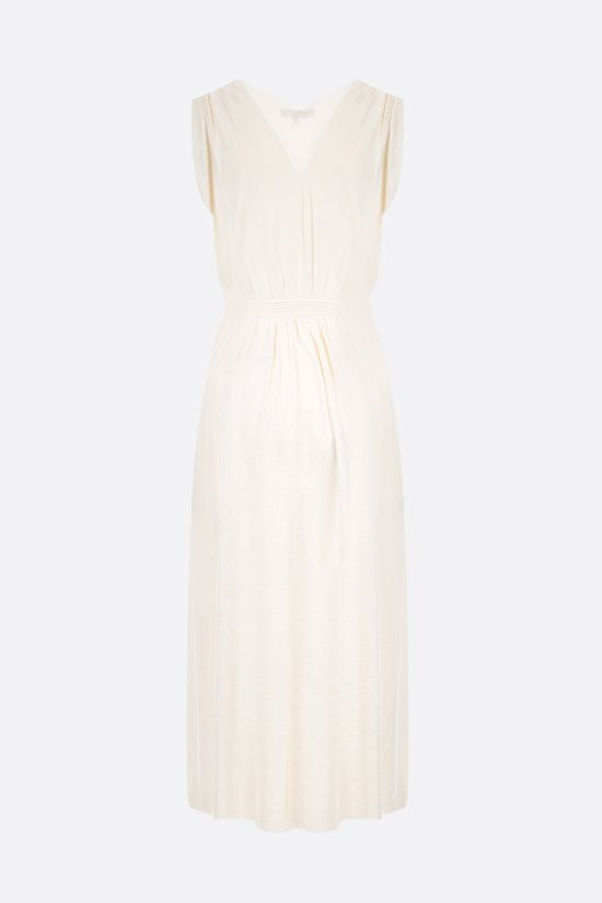 LORO PIANA: Mayan silk sleeveless dress Color White_2