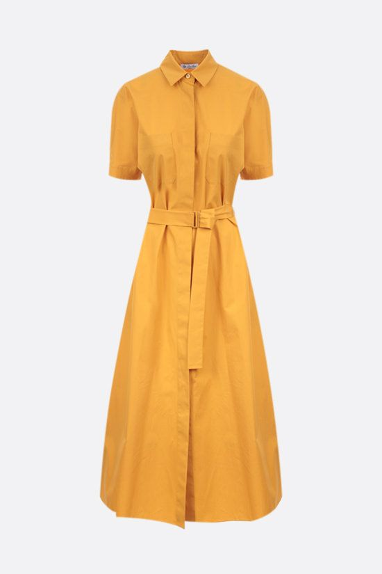 LORO PIANA: Miranda cotton shirt dress Color Yellow_1