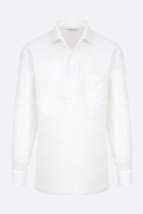 LORO PIANA: Andre linen shirt Color White_1