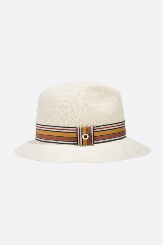 LORO PIANA: The Suitcase Stripe Ingrid straw hat Color Neutral