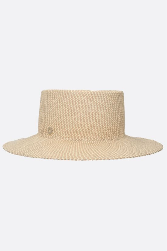 LORO PIANA: Meynadier straw panama hat Color Brown_2