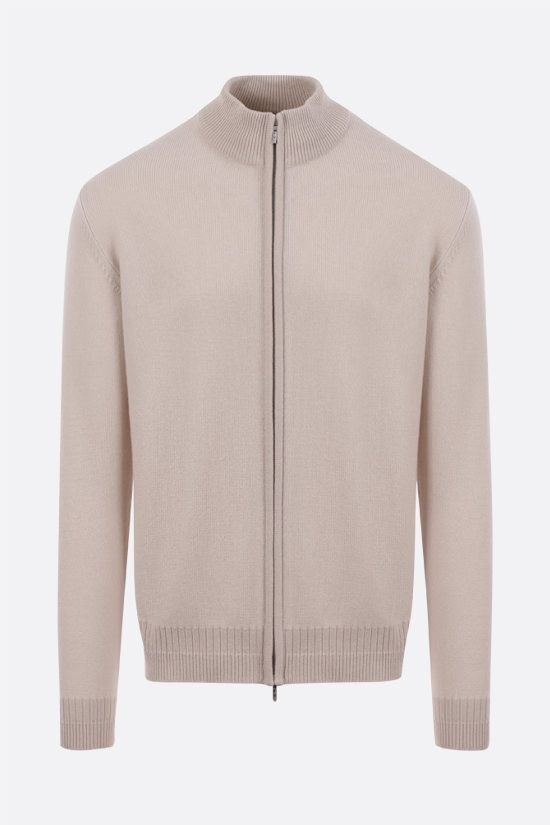 LORO PIANA: Warkville cashmere and silk full-zip cardigan Color Grey_1