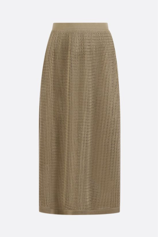 LORO PIANA: Otranto sillk cotton blend midi skirt Color Yellow_1