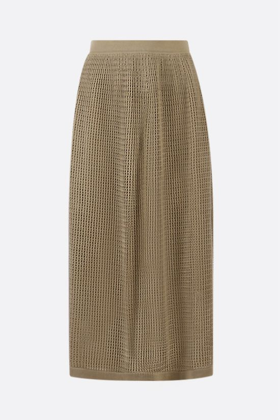 LORO PIANA: Otranto sillk cotton blend midi skirt Color Yellow_2