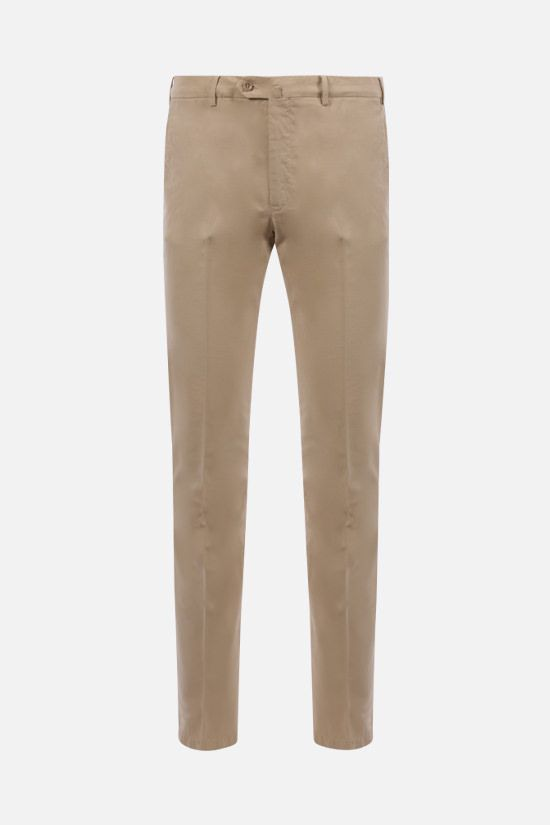 LORO PIANA: slim-fit stretch cotton pants Color Multicolor_1
