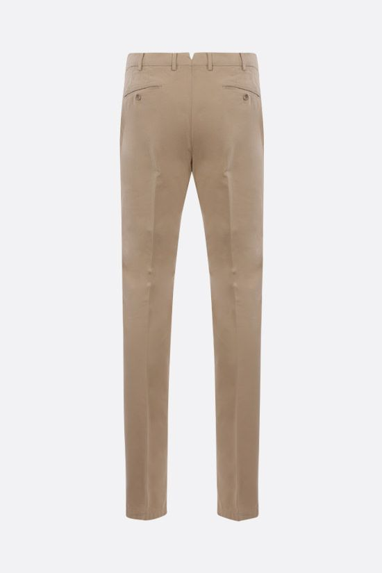 LORO PIANA: slim-fit stretch cotton pants Color Multicolor_2
