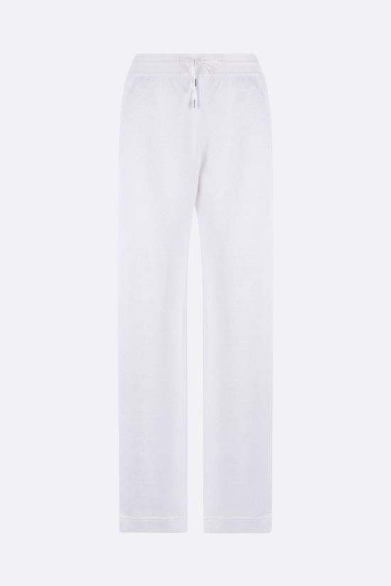 LORO PIANA: Dantita stretch linen joggers Color White_1