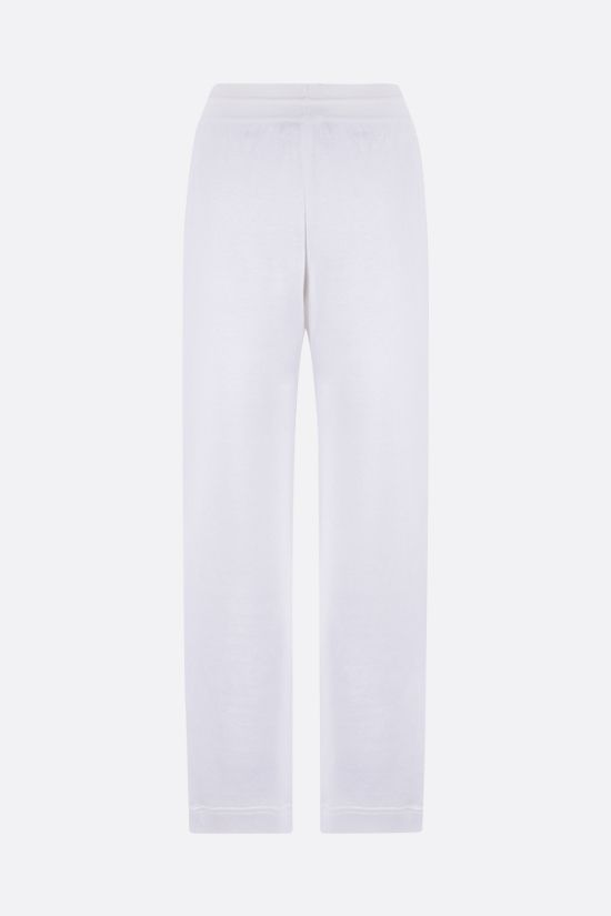 LORO PIANA: Dantita stretch linen joggers Color White_2