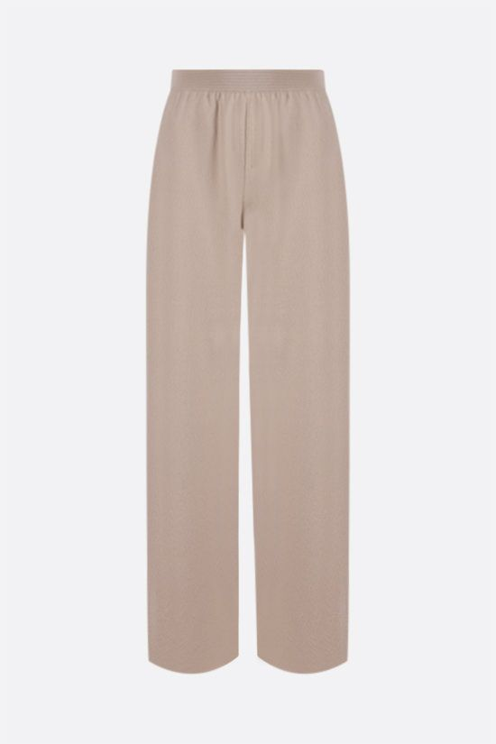 LORO PIANA: Villefranche pants in Baby Cashmere Color Neutral_1