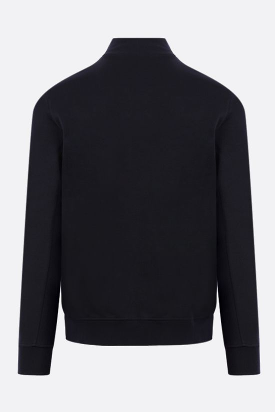 LORO PIANA: technical wool half-zip pullover Color Blue_2