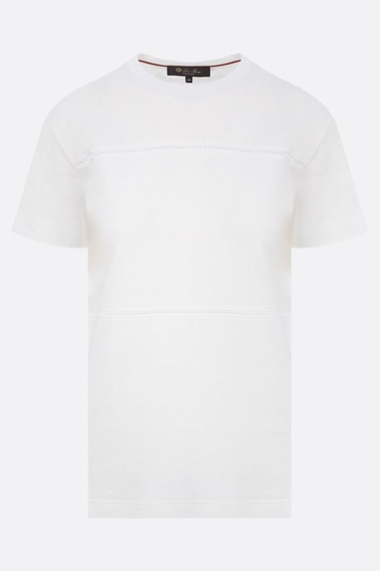 LORO PIANA: La Corniche cotton t-shirt Color White_1