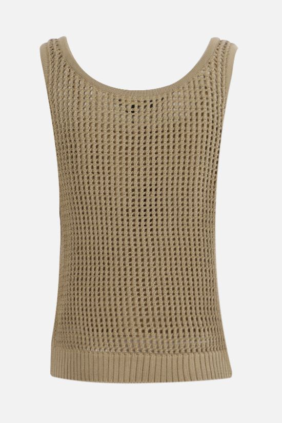 LORO PIANA: Otranto silk cotton blend sleeveless top Color Yellow_2