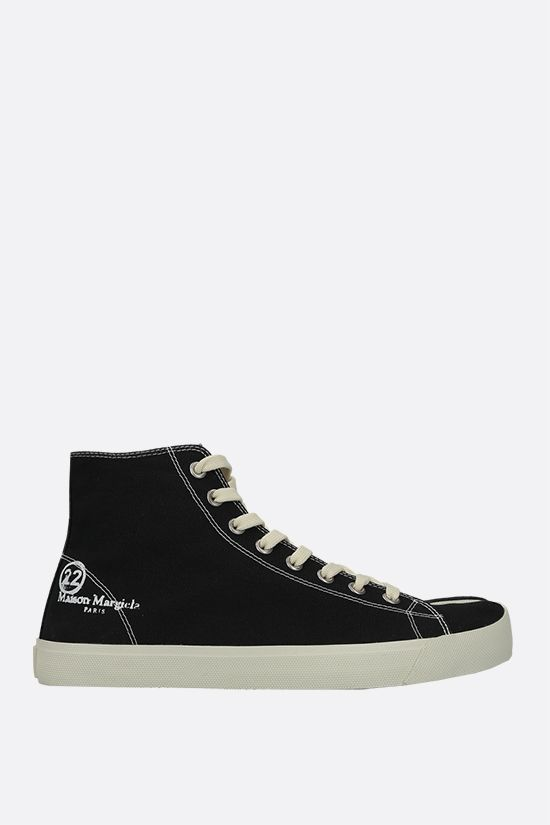 MAISON MARGIELA: Tabi canvas high-top sneakers Color Black_1