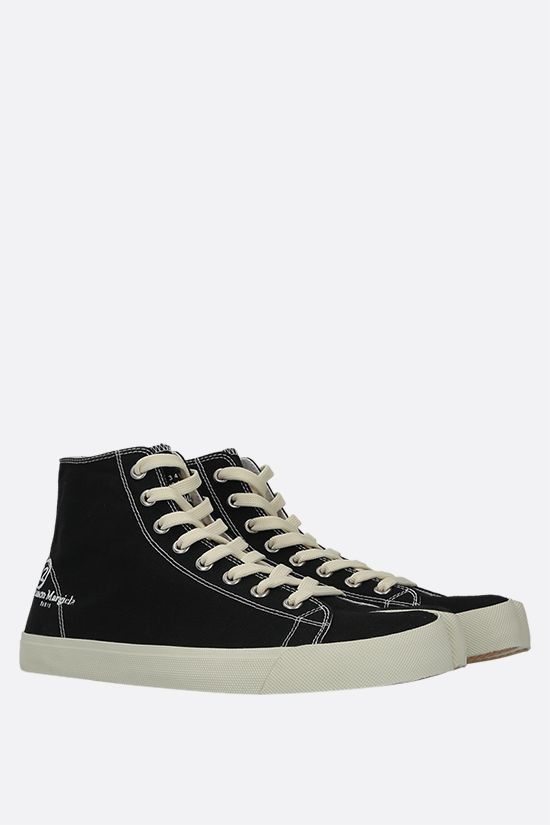 MAISON MARGIELA: Tabi canvas high-top sneakers Color Black_2