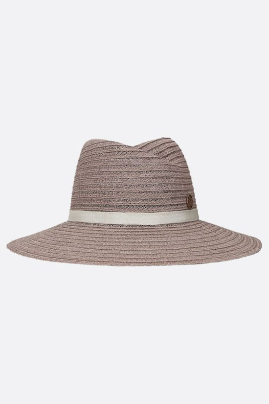 MAISON MICHEL: Virginie straw fedora hat Color Neutral_1