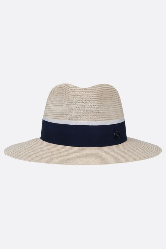 MAISON MICHEL: Andrè straw trilby hat Color Brown_1