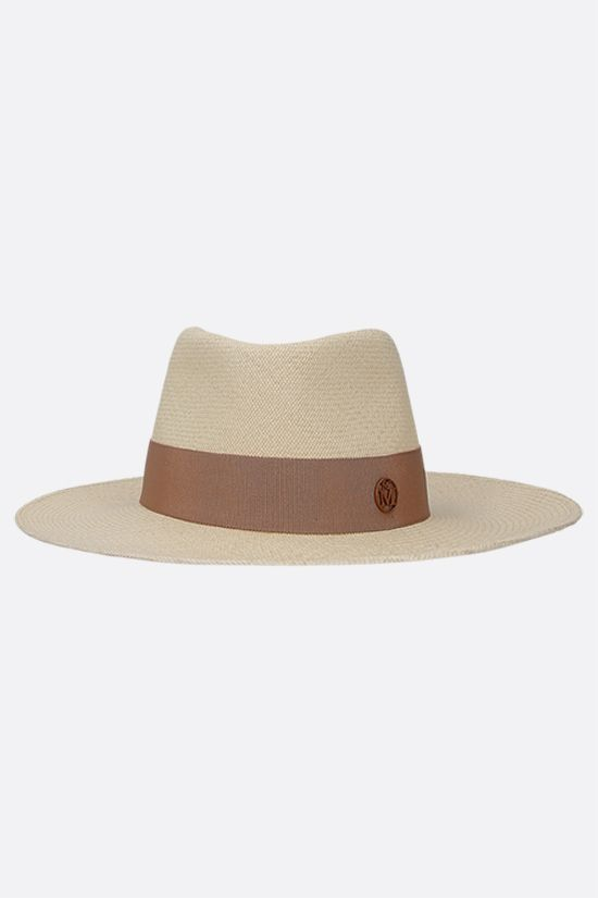 MAISON MICHEL: Charles straw fedora hat Color Neutral_1