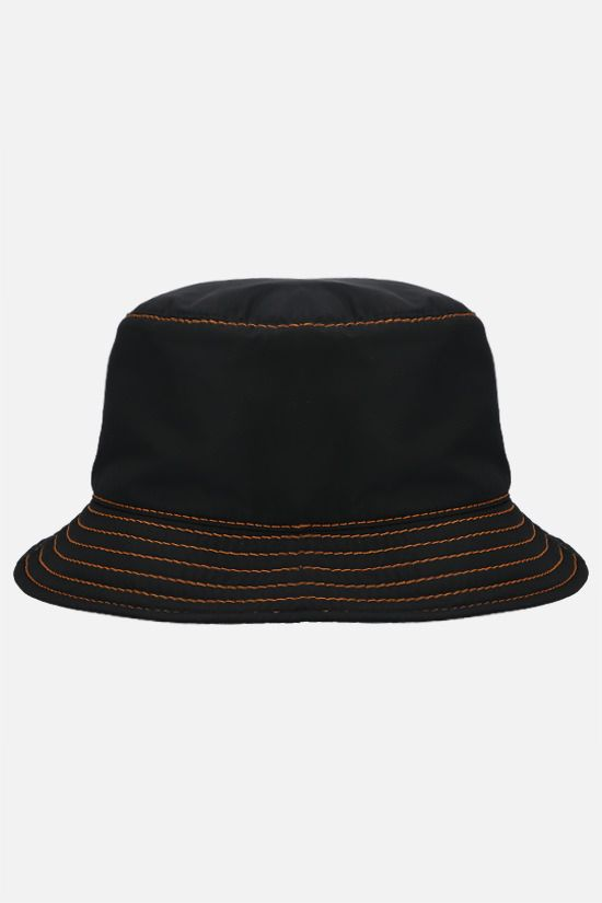 MAISON MICHEL: Jason nylon bucket hat Color Blue_1