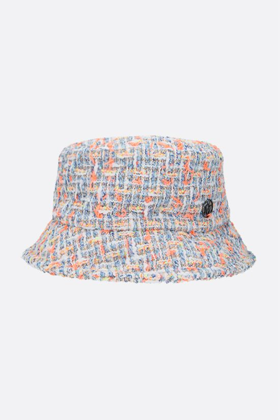 MAISON MICHEL: Axel tweed bucket hat Color Multicolor_1