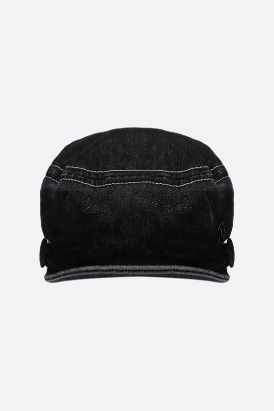 MAISON MICHEL: Soft New Abby denim sailor cap Color Black_1