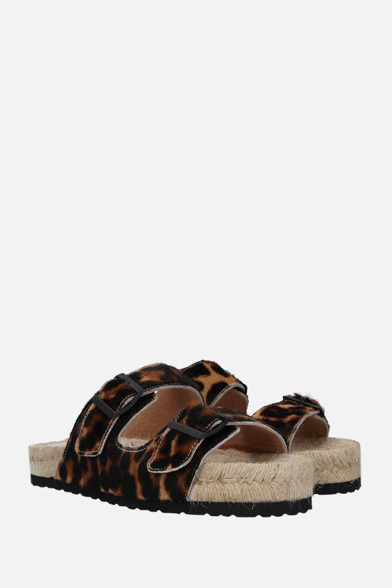 MANEBì: leopard calf hair espadrille sandals Color Animalier_2