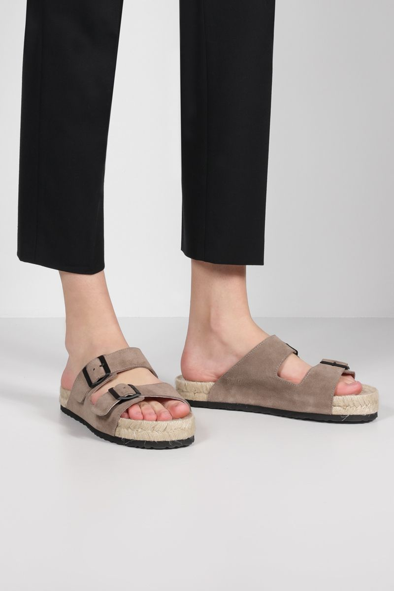 MANEBì: suede espadrille sandals Color Neutral_2
