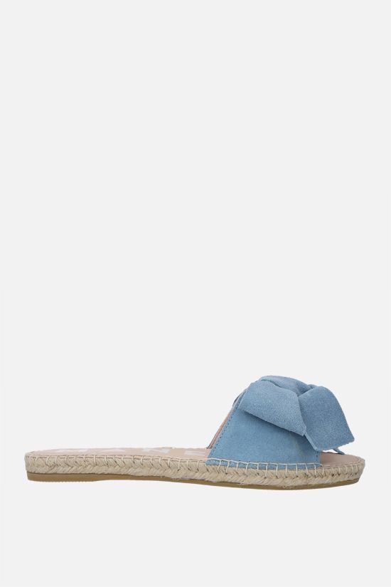 MANEBì: bow-detailed suede espadrille sandals Color Blue_1