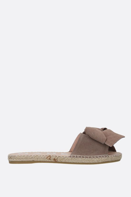 MANEBì: bow-detailed suede espadrille sandals Color Neutral_1