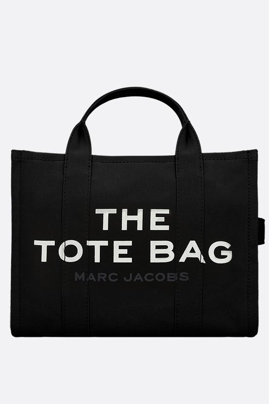 MARC JACOBS: The Traveler small canvas tote bag Color Black_1