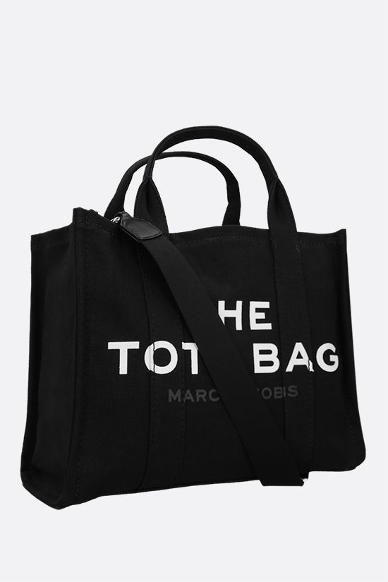 MARC JACOBS: The Traveler small canvas tote bag Color Black_2