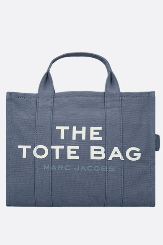 MARC JACOBS: The Traveler small canvas tote bag Color Blue_1