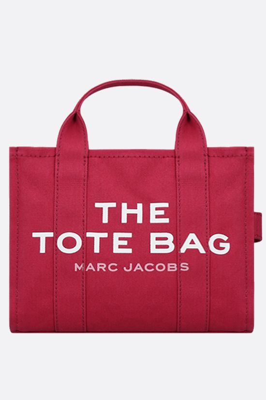 MARC JACOBS: borsa tote The Traveler small in canvas Colore Rosso_1