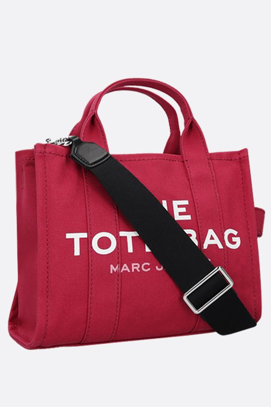 MARC JACOBS: borsa tote The Traveler small in canvas Colore Rosso_2