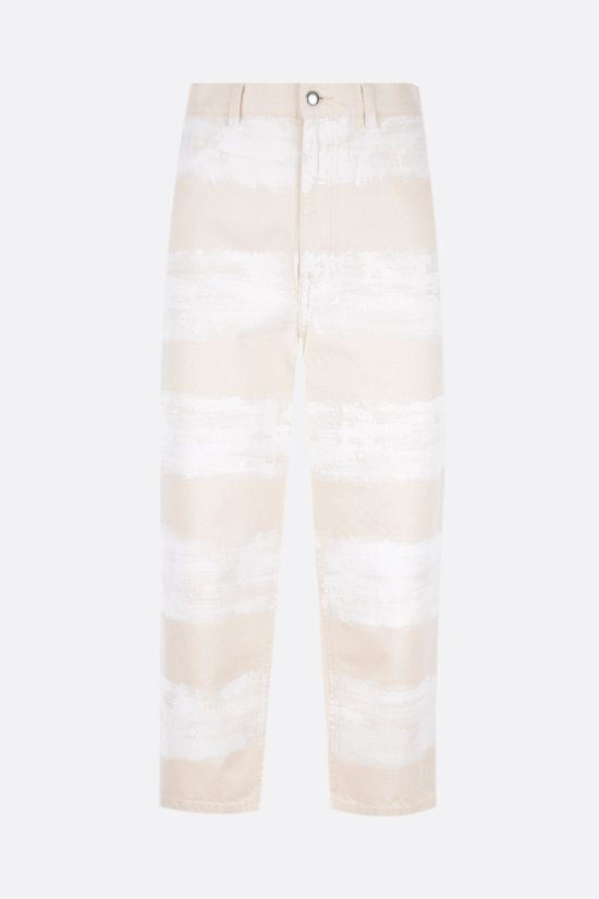 MARNI: brushstroke-striped cropped jeans Color Neutral_1