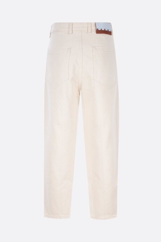 MARNI: brushstroke-striped cropped jeans Color Neutral_2