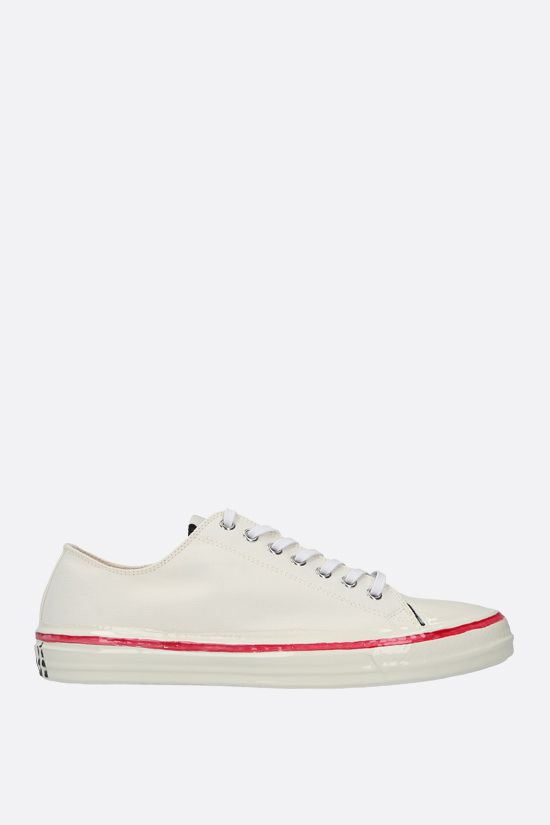 MARNI: canvas low-top sneakers Color White_1
