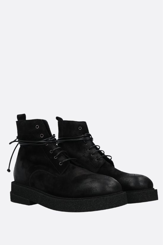 MARSELL: Micrucca suede combat boots Color Black_2