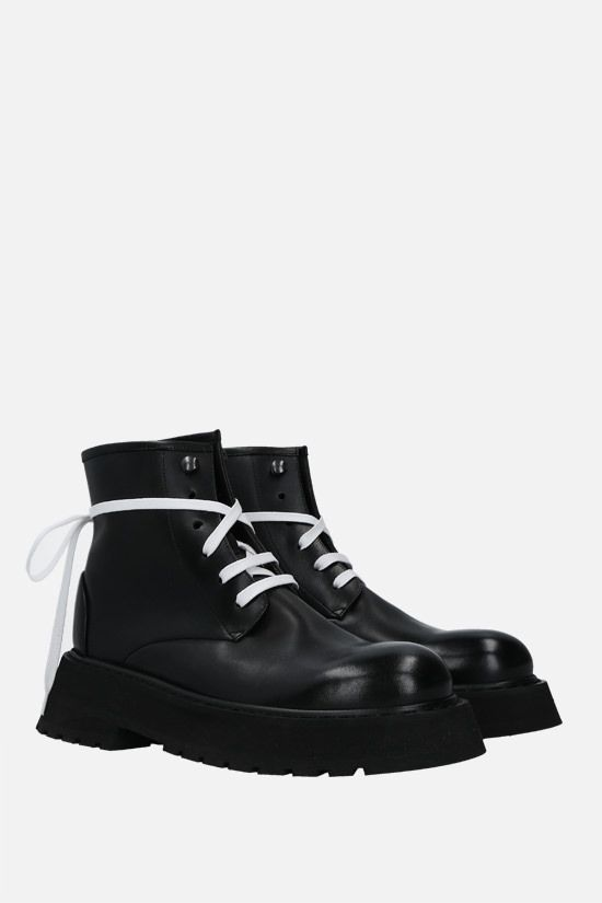 MARSELL: Micarro smooth leather combat boots Color Black_2