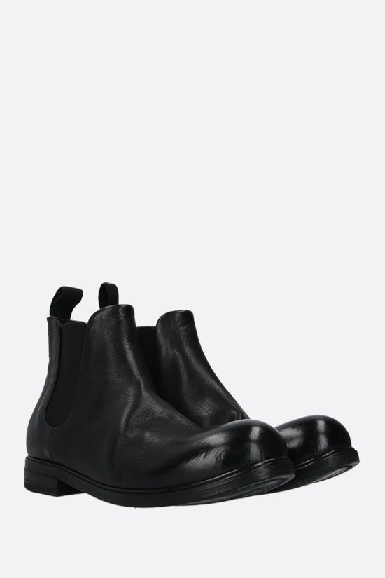 MARSELL: Zucca Media smooth leather chelsea boots Color Black_3