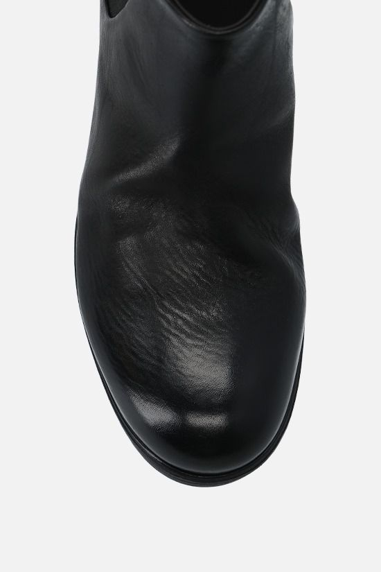 MARSELL: Zucca Media smooth leather chelsea boots Color Black_5